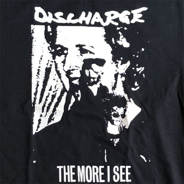 DISCHARGE Tシャツ MORE I SEE BLACK