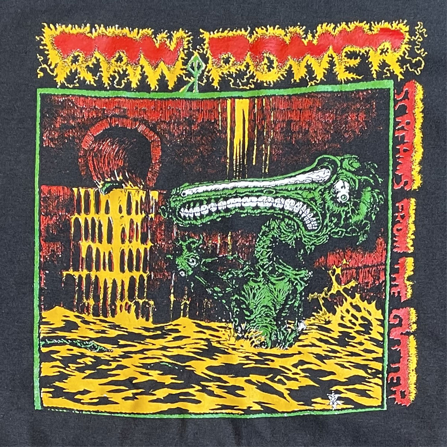 RAW POWER Tシャツ Screams From the Gutter