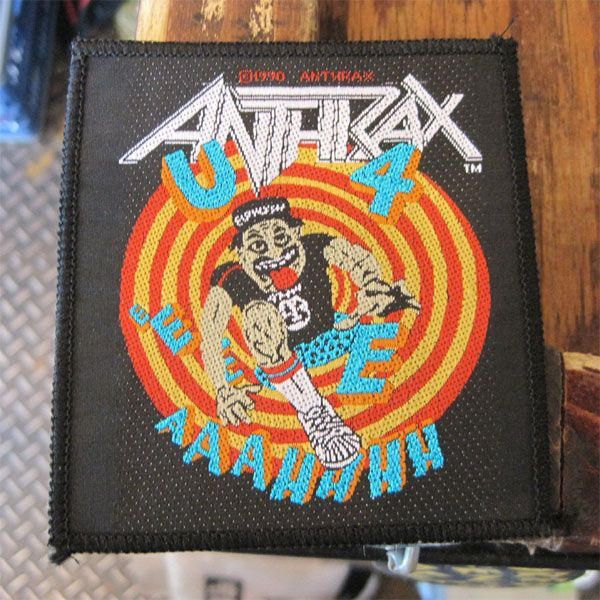 ANTHRAX DEADSTOCK レア刺繍ワッペン
