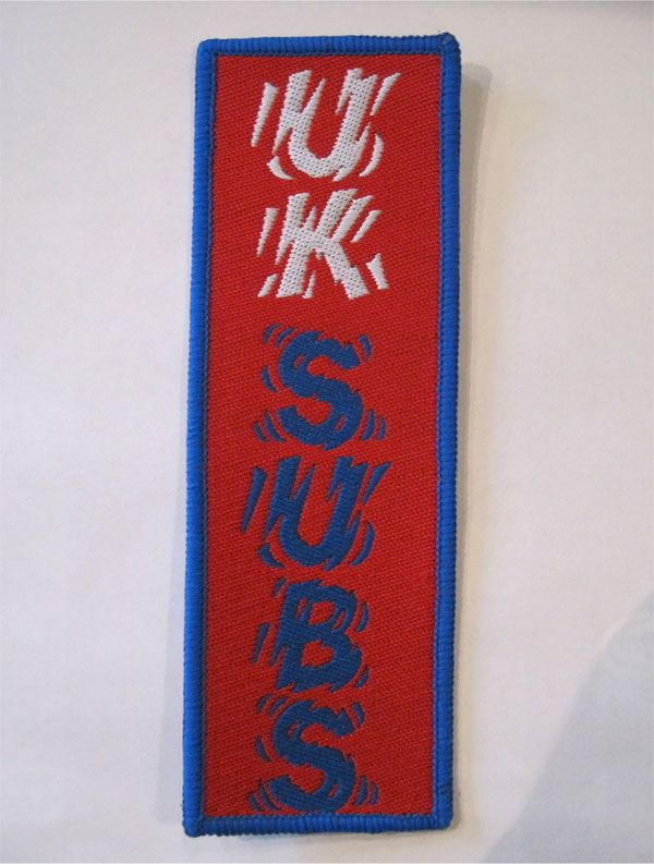 UK SUBS レアDEADSTOCK刺繍ワッペン