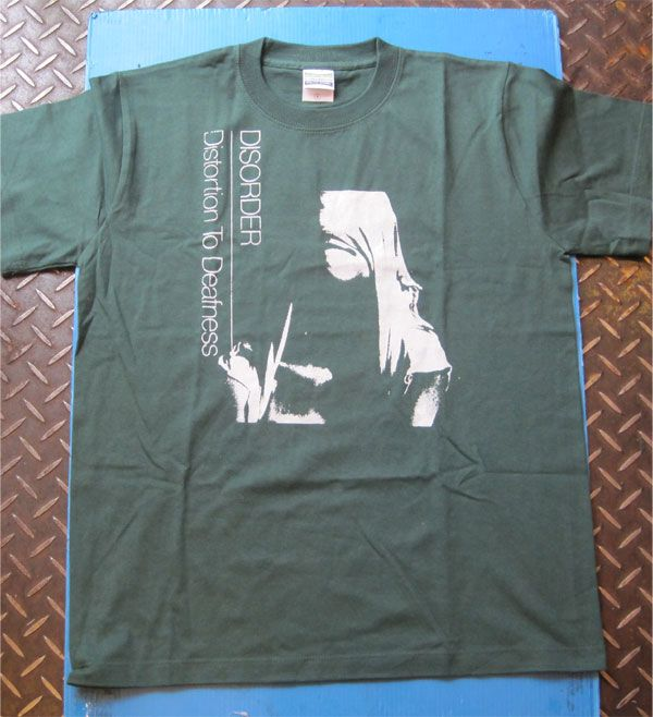 DISORDER Tシャツ DISTORTION TO DEAFNESS