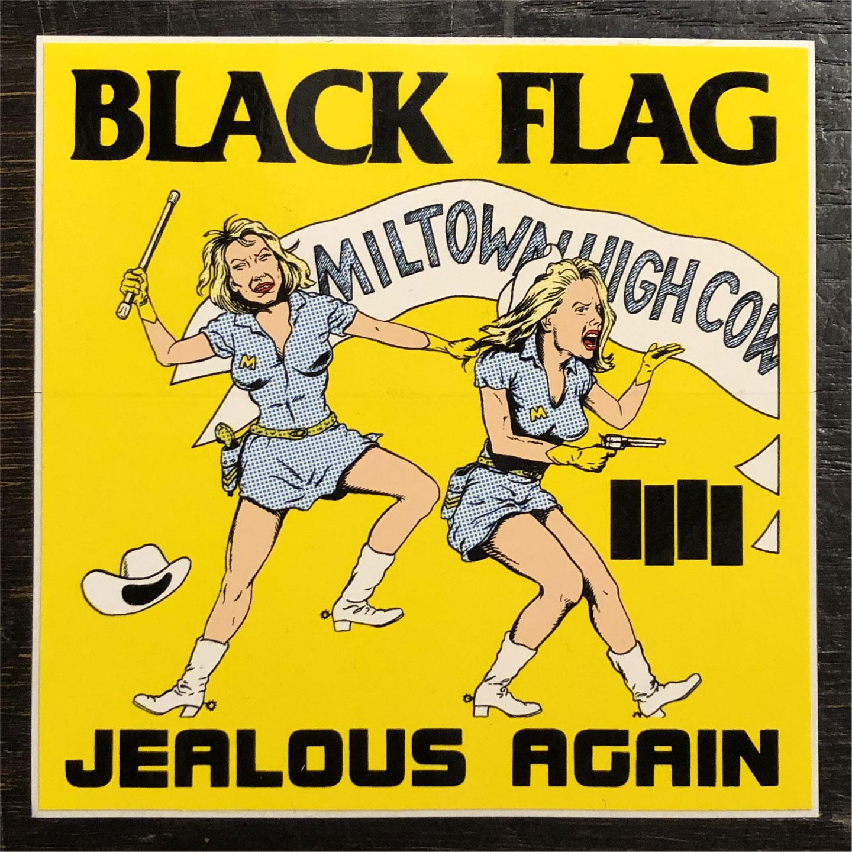 BLACK FLAG  ステッカー JEALOUS AGAIN