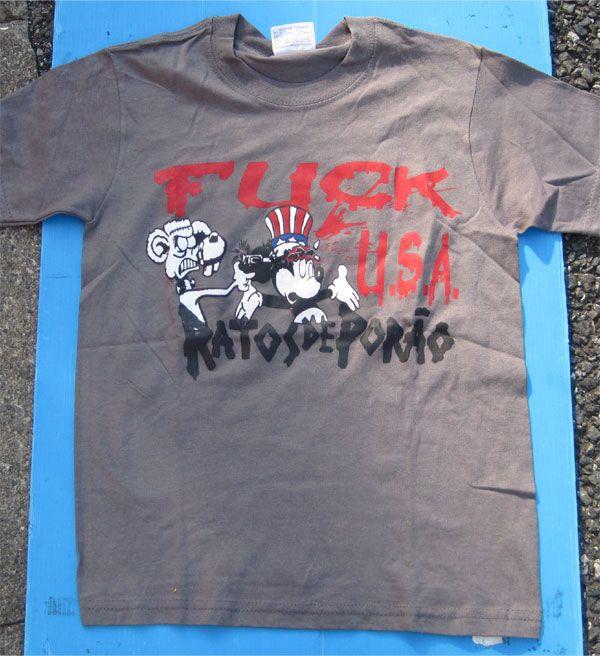 RATOS DE PORAO Tシャツ FUCK USA
