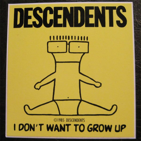 DESCENDENTS  ステッカー I DONT WANT TO GROW UP