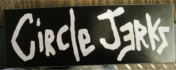 CIRCLE JERKS ステッカー ロゴ