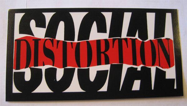 SOCIAL DISTORTION ステッカー ロゴ1