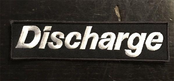 DISCHARGE 刺繍ワッペン 小文字ロゴ