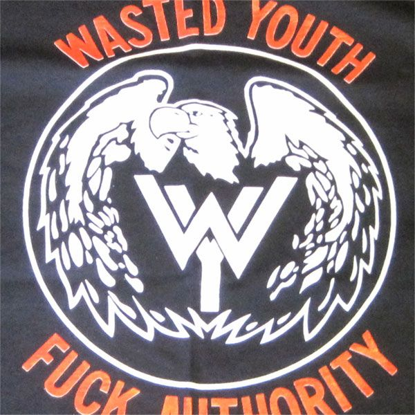 WASTED YOUTH  Tシャツ FUCK AUTHORITY 1