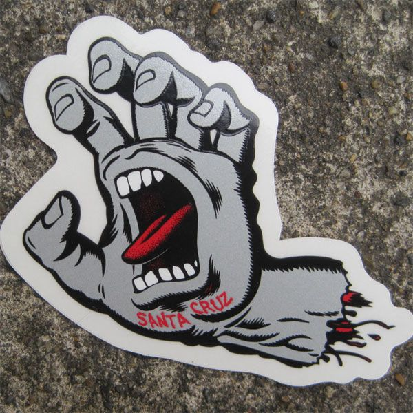 SANTA CRUZ ステッカー SCREAMING HAND