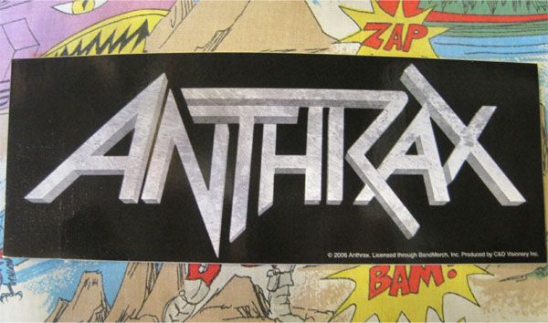 ANTHRAX ステッカー ロゴ