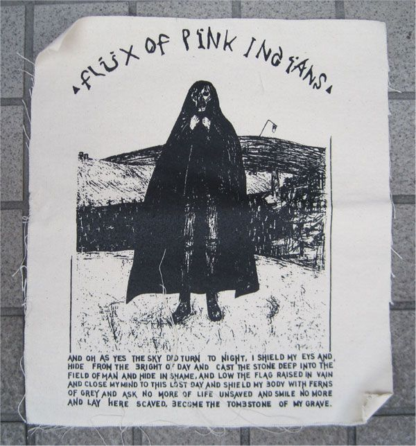 FLUX OF PINK INDIANS BACKPATCH and oh as yes