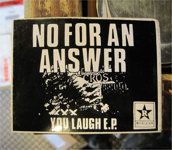 NO FOR AN ANSWER レアステッカー