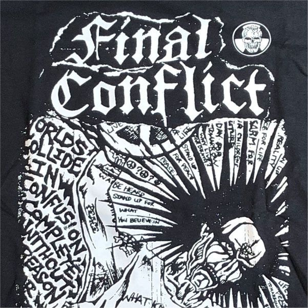 FINAL CONFLICT Tシャツ ASHES TO ASHES 2