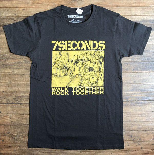 7SECONDS Tシャツ WALK TOGETHER ROCK TOGETHER オフィシャル