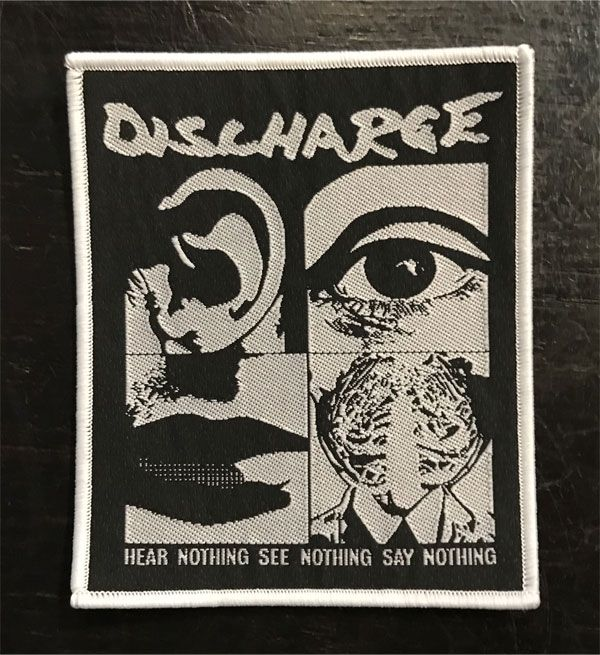 DISCHARGE 刺繍ワッペン HEAR NOTHING...