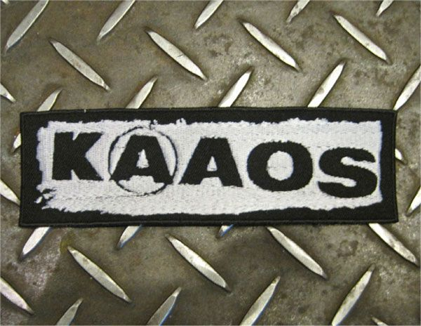 KAAOS 刺繍ワッペン LOGO
