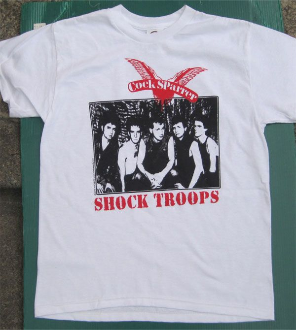 COCK SPARRER Tシャツ SHOCK TROOPS