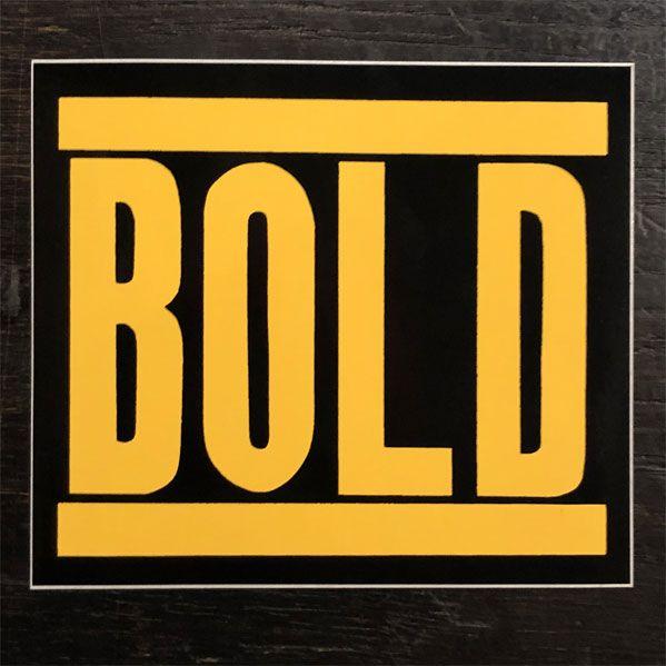 BOLD  ステッカー ロゴ