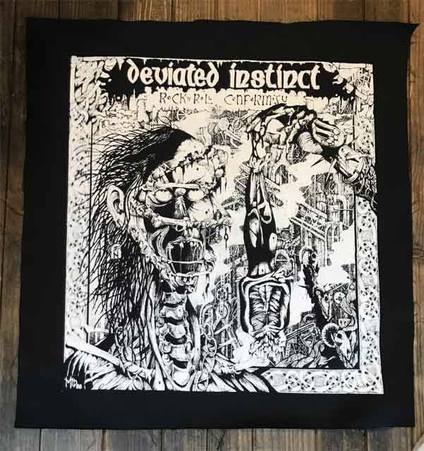 DEVIATED INSTINCT BACKPATCH Rock n Roll Conformity
