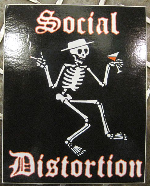 SOCIAL DISTORTION ステッカー SKULL LOGO