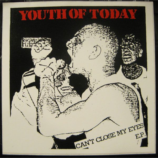 Youth of today ステッカー CAN'T CLOSE MY EYES