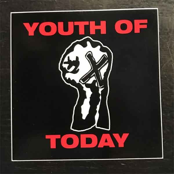 YOUTH OF TODAY ステッカー STRAIGHT EDGE