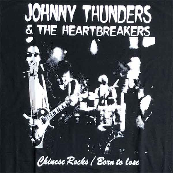JOHNNY THUNDERS AND THE HEARTBREAKERS  Tシャツ CHINESE ROCKS