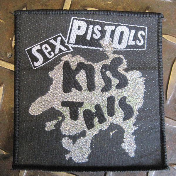SEX PISTOLS DEADSTOCK刺繍ワッペン KISS THIS