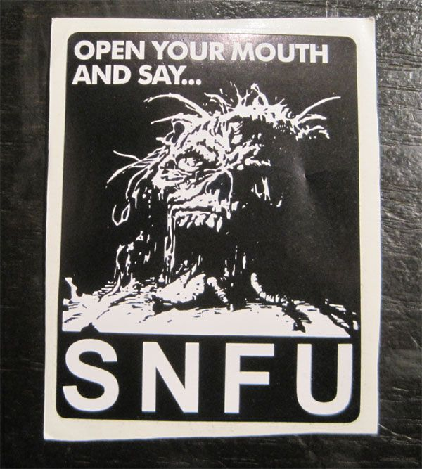 S.N.F.U ステッカー OPEN YOUR MOUTH