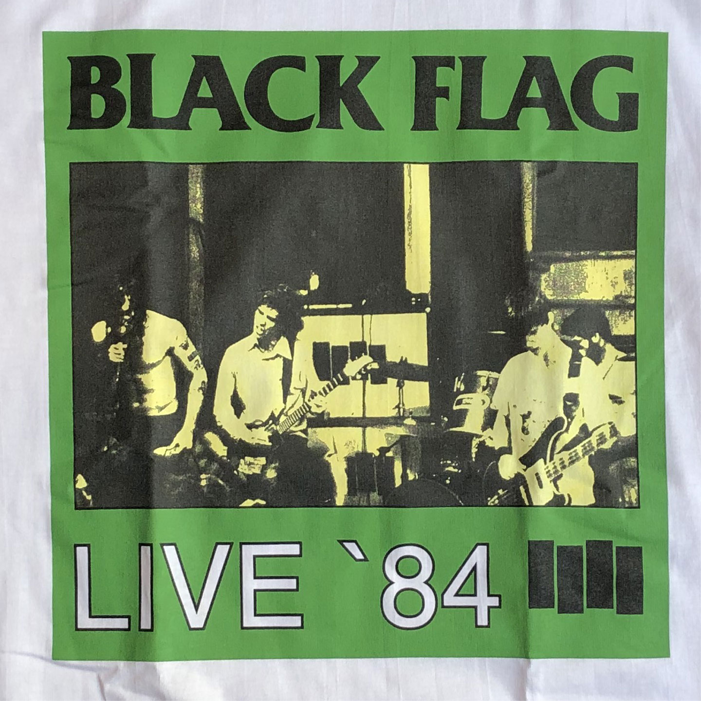 BLACK FLAG Tシャツ LIVE'84