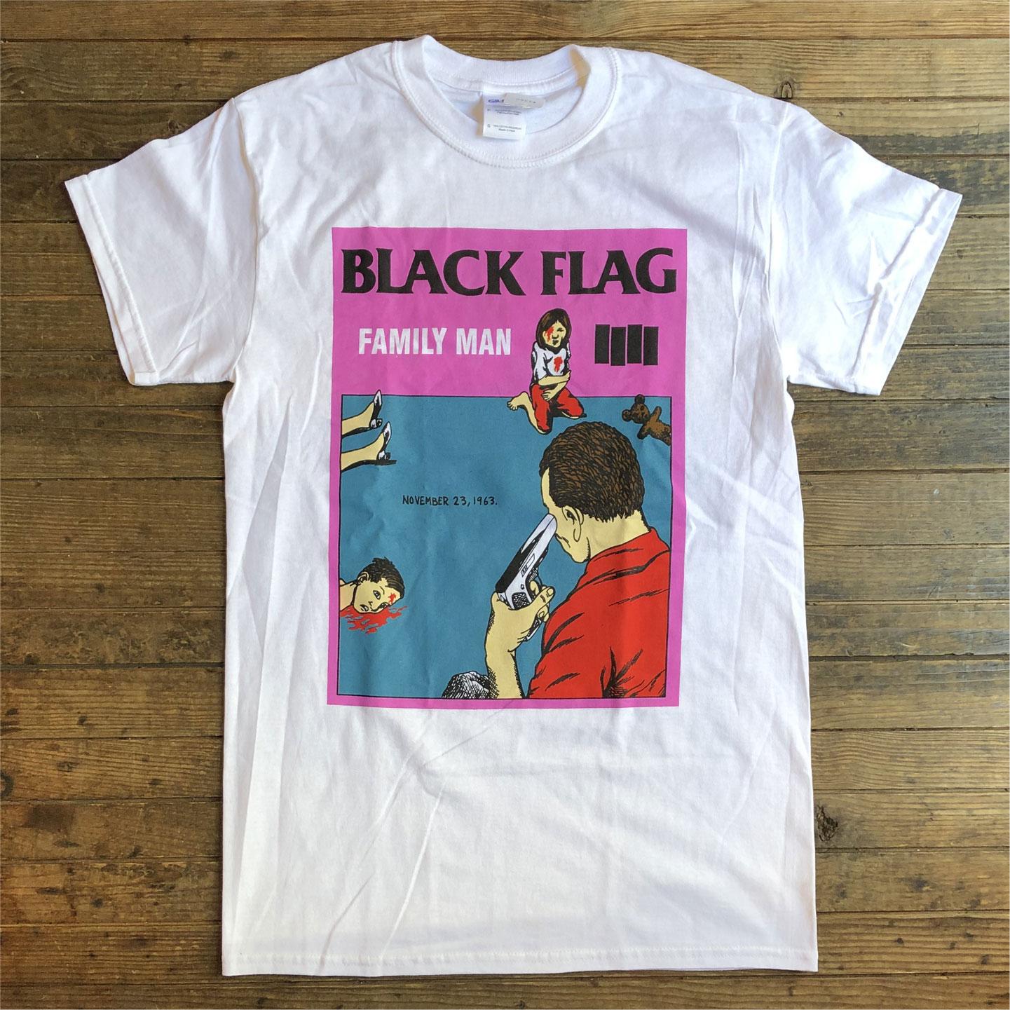 BLACK FLAG Tシャツ FAMILY MAN
