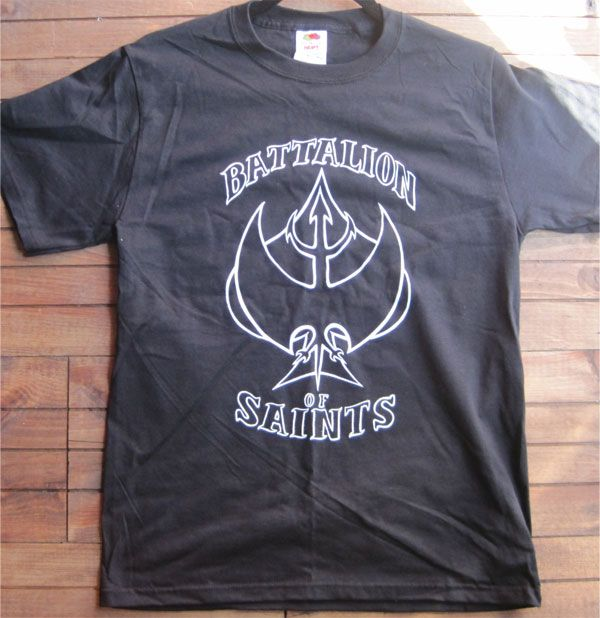 BATTALION OF SAINTS  Tシャツ ACE OF SPADES  パロディー