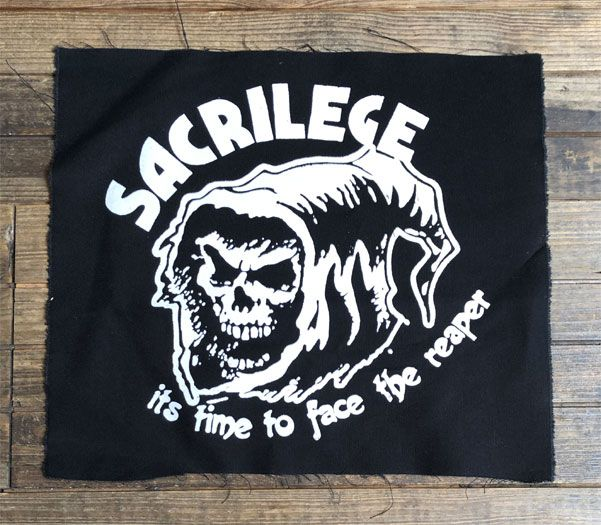 SACRILEGE BACKPATCH IT'S TIME TO FACE THE REAPER