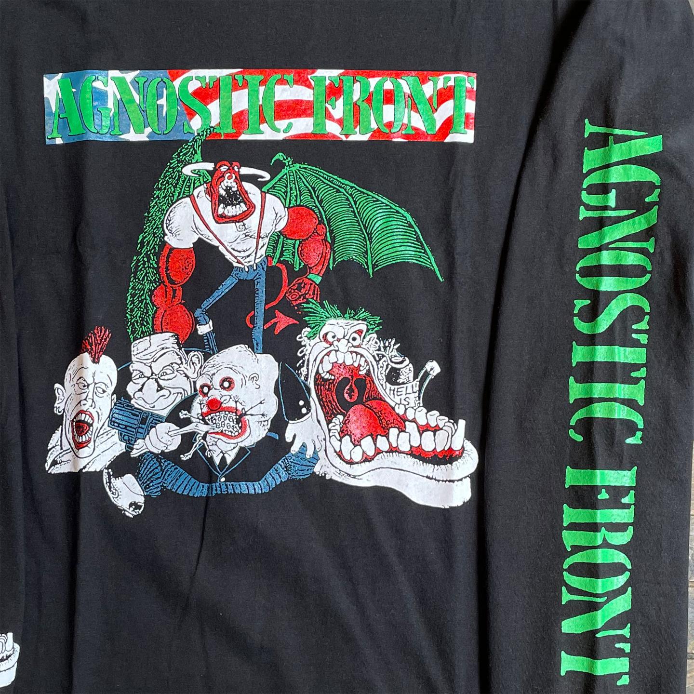 AGNOSTIC FRONT ロングスリーブTシャツ TOUR