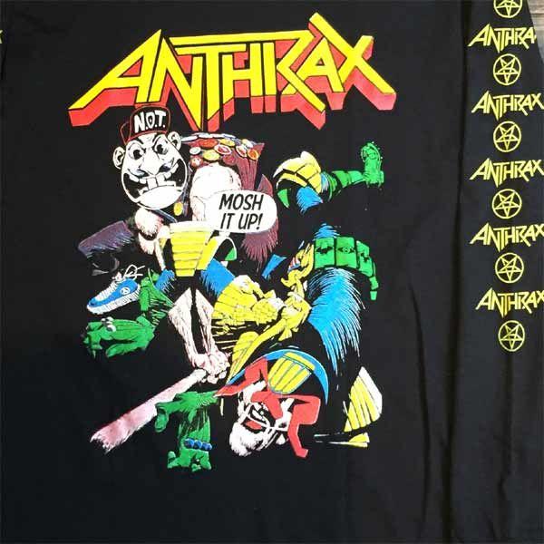 ANTHRAX ロングスリーブTシャツ MOSH IT UP