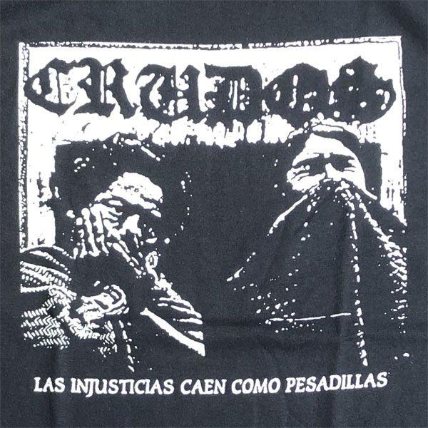 LOS CRUDOS  Tシャツ LAS INJASTICIAL