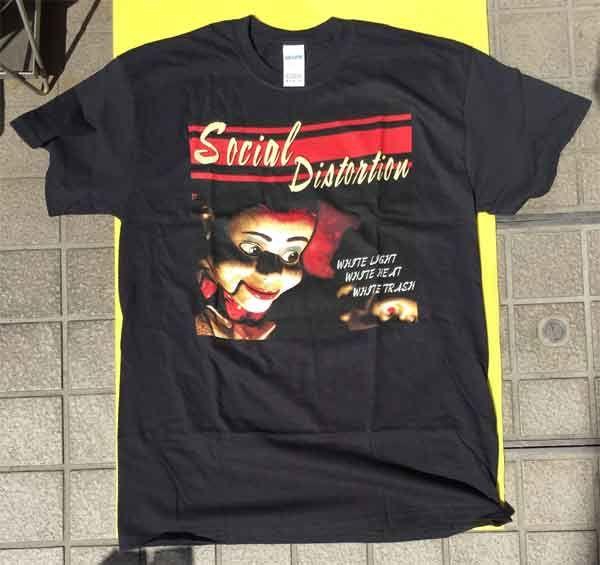 SOCIAL DISTORTION Tシャツ White Light, White Heat, White Trash
