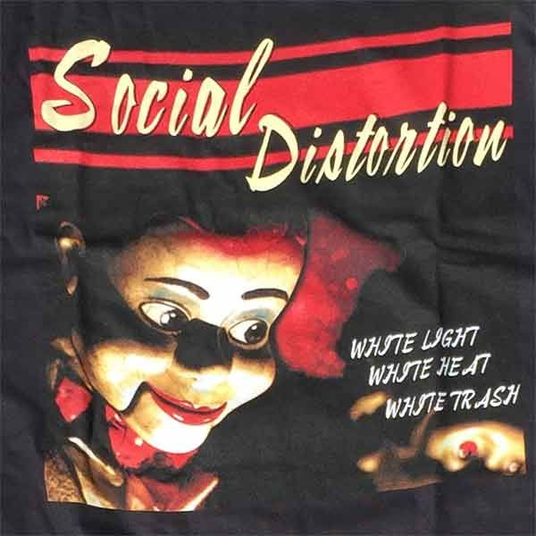 SOCIAL DISTORTION Tシャツ White Light, White Heat, White Trash