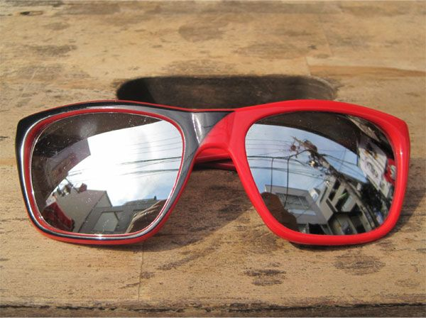 ITALY MADE VINTAGE サングラス RED/BLACK