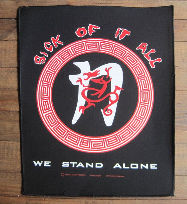 DEADSTOCK!! SICK OF IT ALL backpatch(デカワッペン) WE STAND ALONE