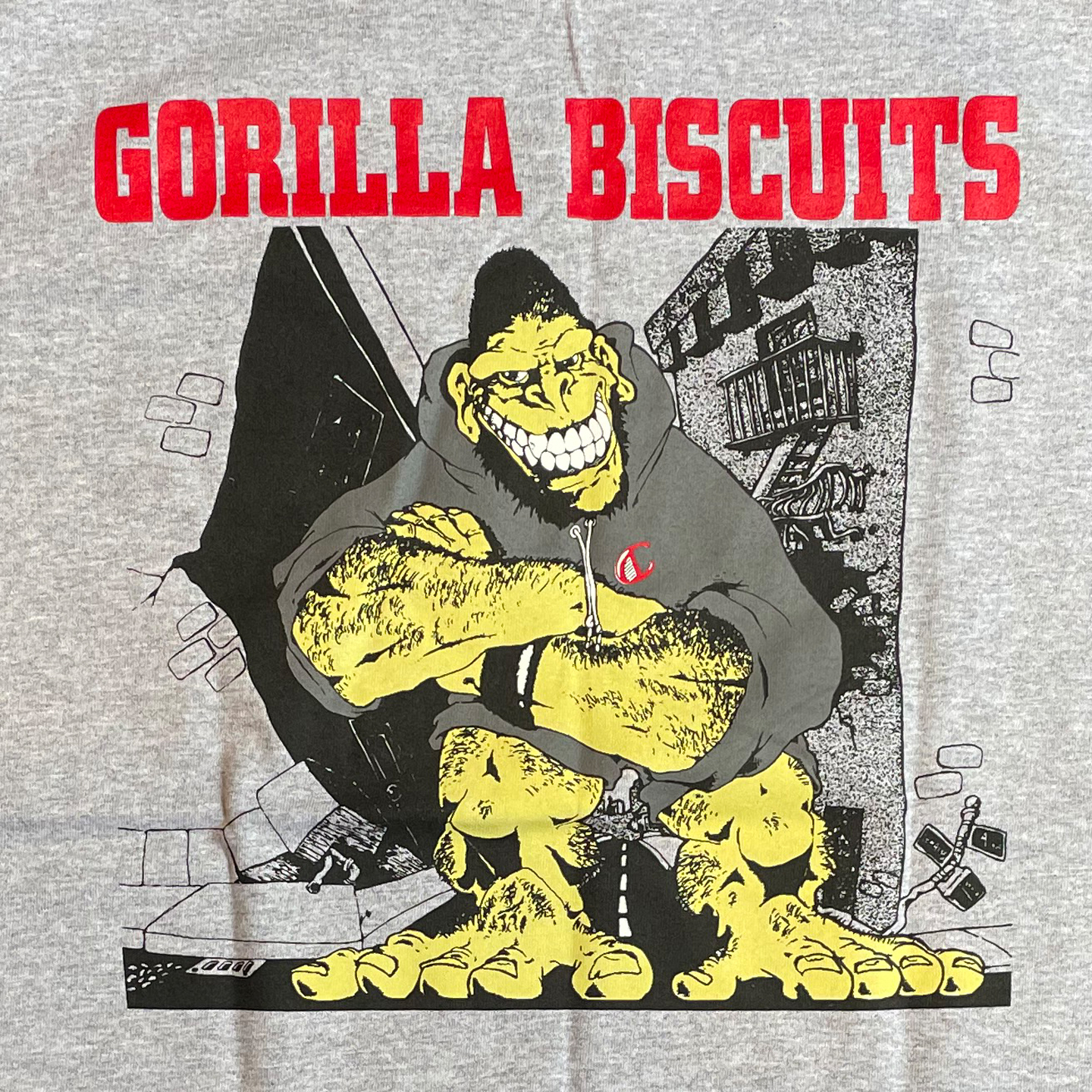 GORILLA BISCUITS Tシャツ HOLD YOUR GROUND GRAY