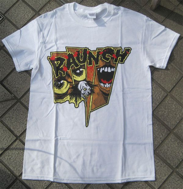 RAUNCH RECORDS Tシャツ SHATTERED GLASS