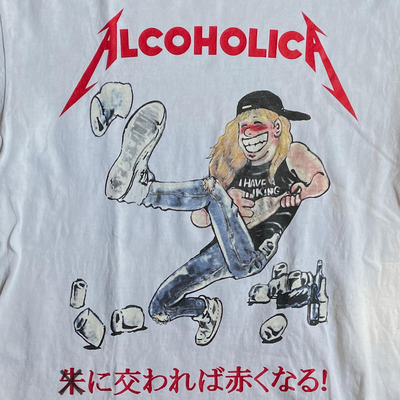 USED! ALCOHOLICA(METALLICA) Tシャツ 朱に交われば赤くなる!