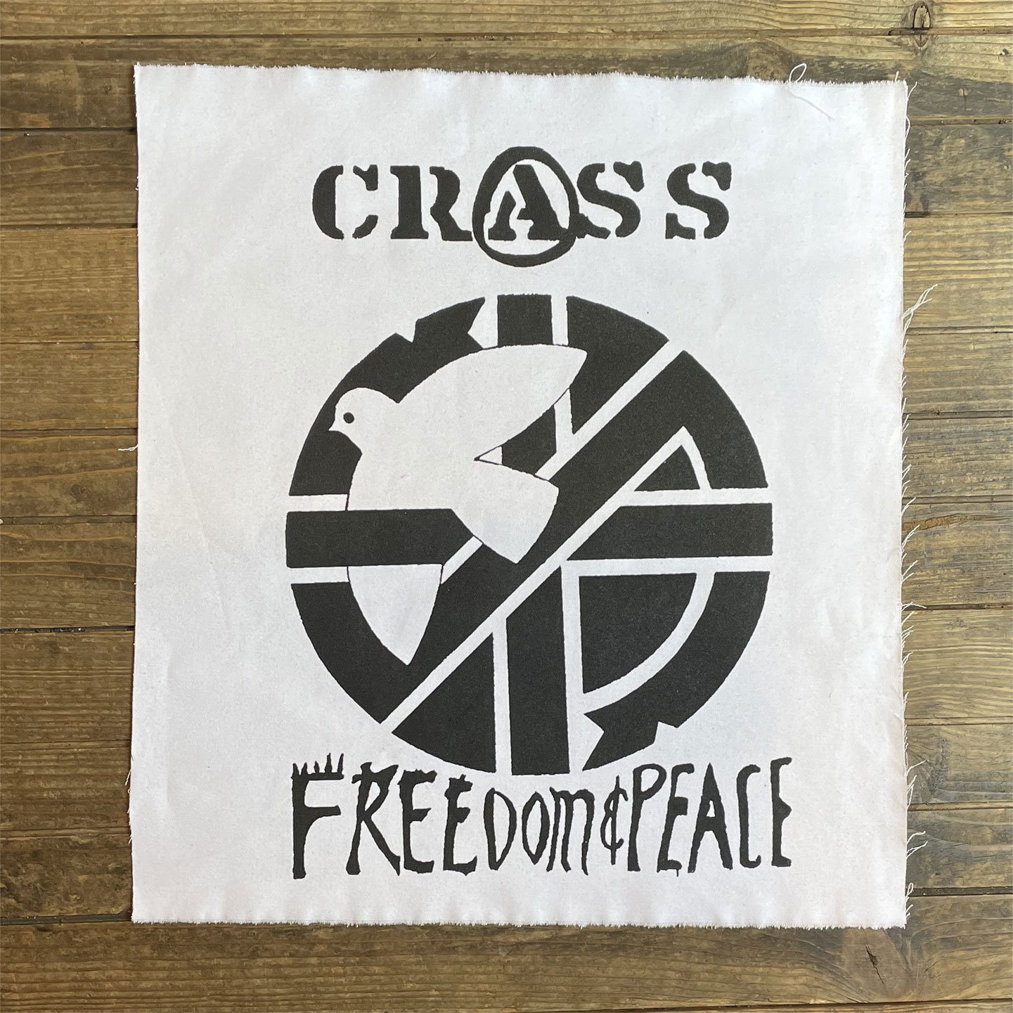 CRASS BACKPATCH FREEDOM & PEACE