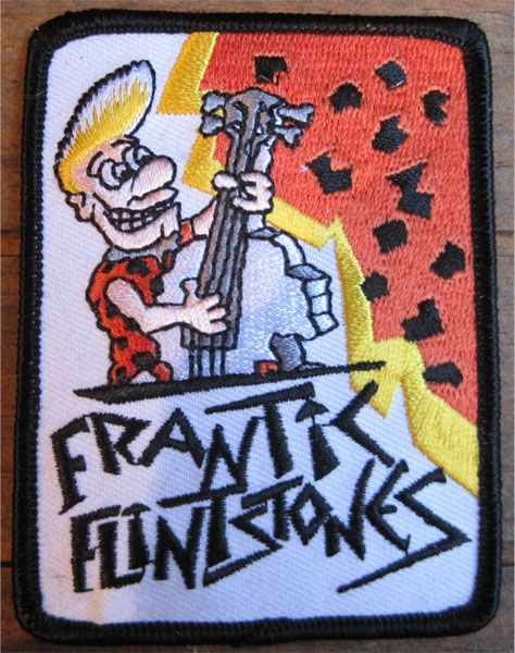 FRANTIC FLINTSTONES 刺繍ワッペン 1