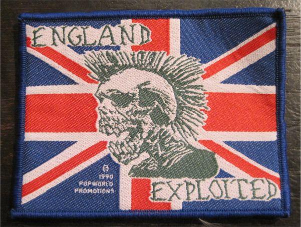 EXPLOITED DEADSTOCK刺繍ワッペン ENGLAND