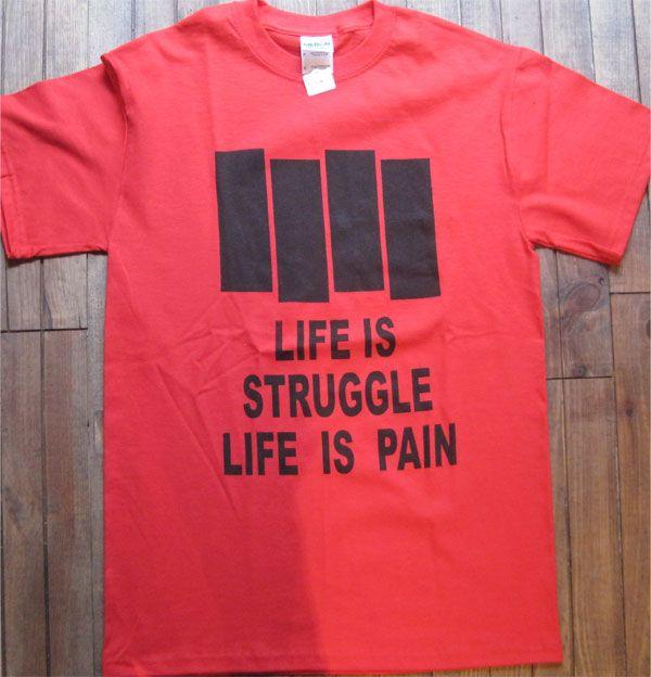 BLACK FLAG Tシャツ LIFE IS STRUGGLE