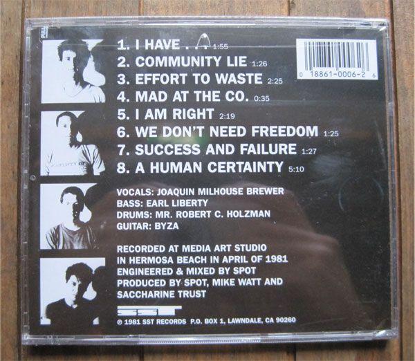 SACCHARINE TRUST CD PAGAN ICONS
