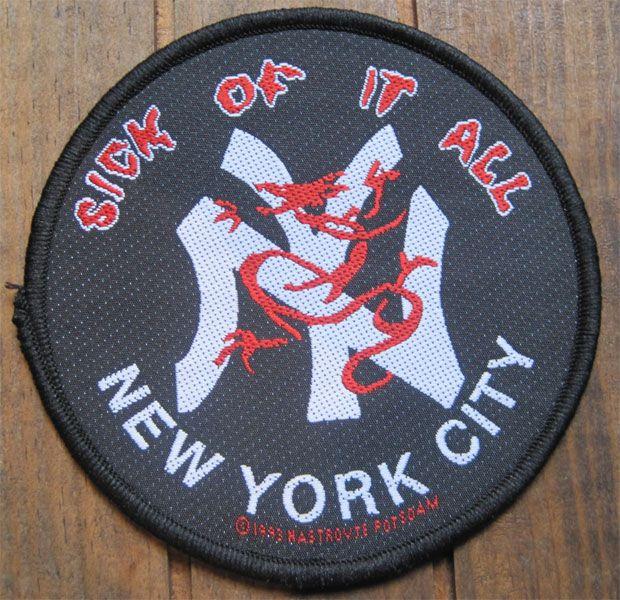 SICK OF IT ALL 刺繍ワッペン NEW YORK CITY