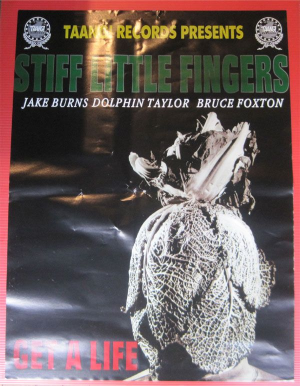 STIFF LITTLE FINGERS ポスター GET A LIFE